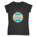 ALL I CARE ABOUT IS SOUL EXPANSION - LADIES V-NECK T-SHIRT WOMEN'S V-NECK Charcoal Heather / XS DEARSOUL