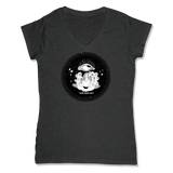 ROLLS 3RD EYE  - LADIES V-NECK T-SHIRT WOMEN'S V-NECK Charcoal Heather / XS DEARSOUL