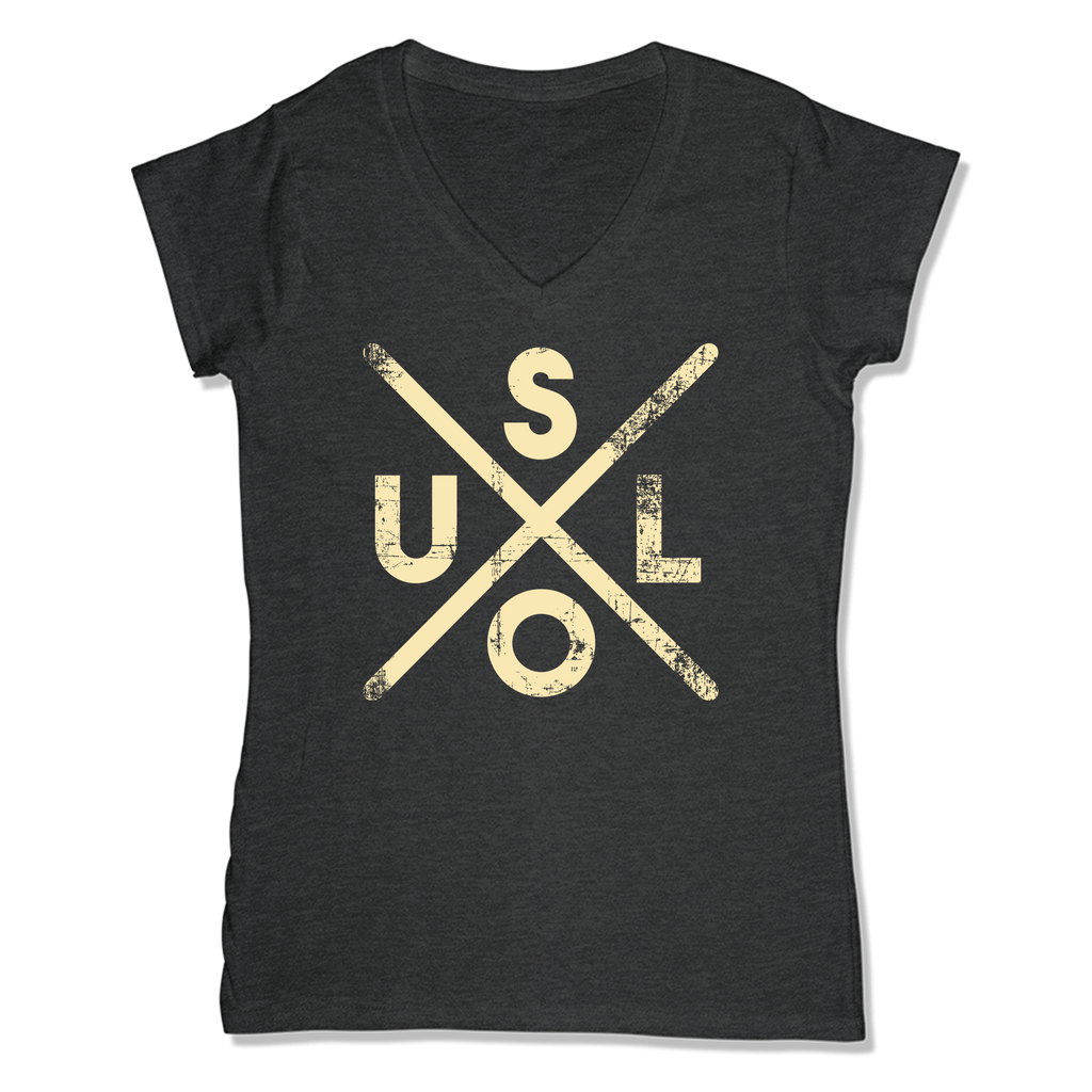 SOUL -  LADIES V-NECK T-SHIRT WOMEN'S V-NECK Charcoal Heather / XS DEARSOUL
