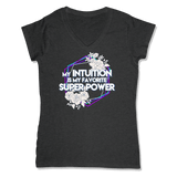 SUPER POWER - LADIES V-NECK T-SHIRT WOMEN'S V-NECK Charcoal Heather / XS DEARSOUL