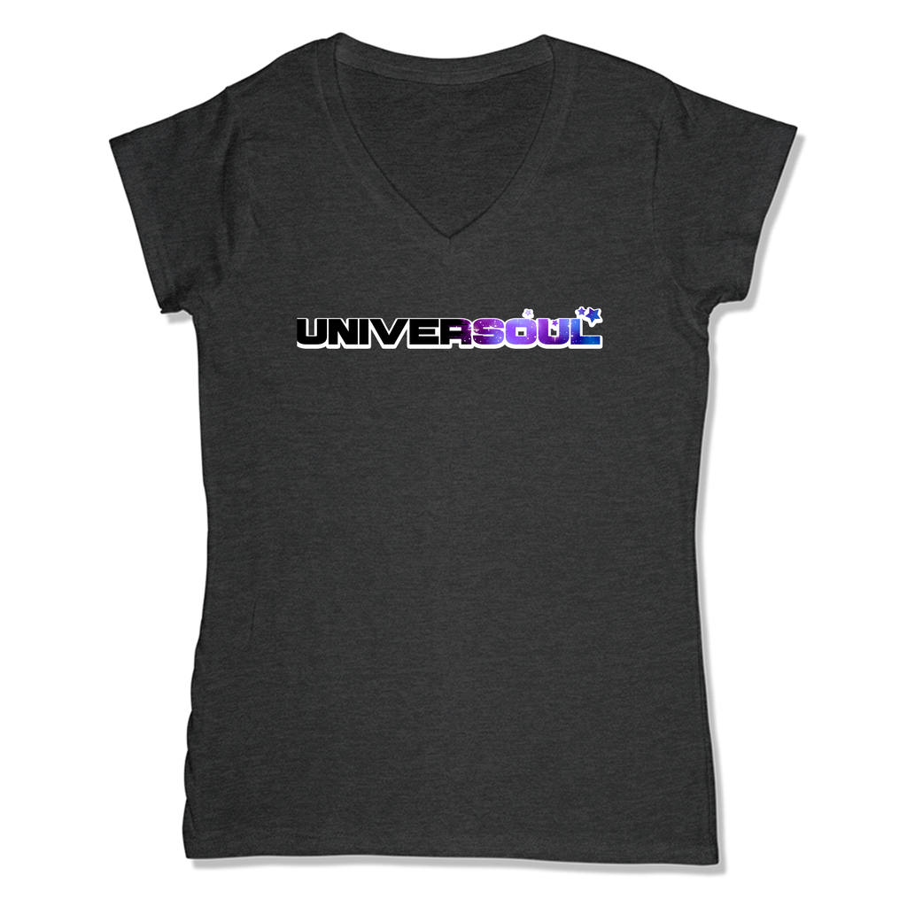 UNIVERSOUL - LADIES V-NECK T-SHIRT WOMEN'S V-NECK Charcoal Heather / XS DEARSOUL