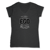YOUR EGO NOT AMIGO - LADIES V-NECK T-SHIRT WOMEN'S V-NECK Charcoal Heather / XS DEARSOUL