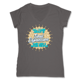 ALL I CARE ABOUT IS SOUL EXPANSION - LADIES V-NECK T-SHIRT WOMEN'S V-NECK Coal Grey / XS DEARSOUL