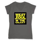 BEST SOUL IN GALAXY - LADIES V-NECK T-SHIRT WOMEN'S V-NECK Coal Grey / XS DEARSOUL