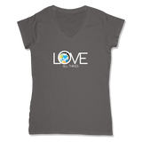LOVE ALL THINGS - LADIES V-NECK T-SHIRT WOMEN'S V-NECK Coal Grey / XS DEARSOUL