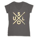 SOUL -  LADIES V-NECK T-SHIRT WOMEN'S V-NECK Coal Grey / XS DEARSOUL