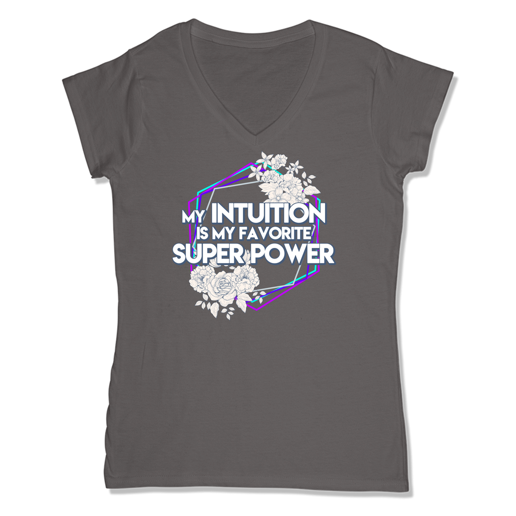 SUPER POWER - LADIES V-NECK T-SHIRT WOMEN'S V-NECK Coal Grey / XS DEARSOUL