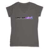 UNIVERSOUL - LADIES V-NECK T-SHIRT WOMEN'S V-NECK Coal Grey / XS DEARSOUL