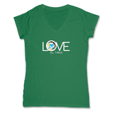 LOVE ALL THINGS - LADIES V-NECK T-SHIRT WOMEN'S V-NECK Kelly Green / XS DEARSOUL