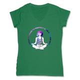 MANIFEST - LADIES V-NECK T-SHIRT WOMEN'S V-NECK Kelly Green / XS DEARSOUL
