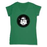 ROLLS 3RD EYE  - LADIES V-NECK T-SHIRT WOMEN'S V-NECK Kelly Green / XS DEARSOUL