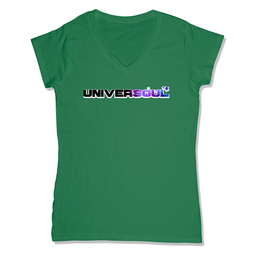 UNIVERSOUL - LADIES V-NECK T-SHIRT WOMEN'S V-NECK Kelly Green / XS DEARSOUL