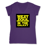 BEST SOUL IN GALAXY - LADIES V-NECK T-SHIRT WOMEN'S V-NECK Purple / XS DEARSOUL