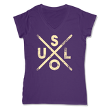 SOUL -  LADIES V-NECK T-SHIRT WOMEN'S V-NECK Purple / XS DEARSOUL