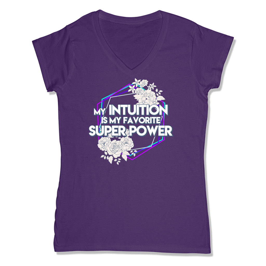 SUPER POWER - LADIES V-NECK T-SHIRT WOMEN'S V-NECK Purple / XS DEARSOUL