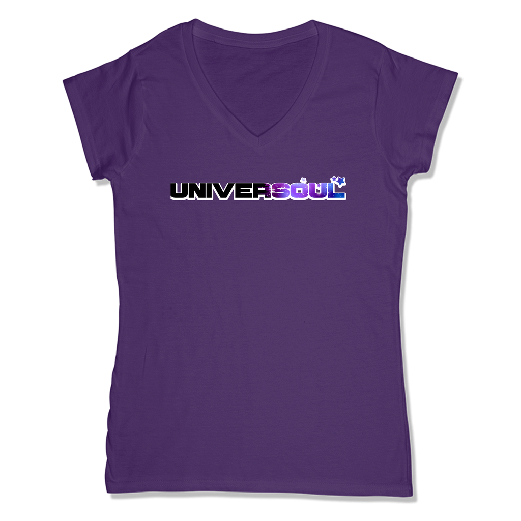 UNIVERSOUL - LADIES V-NECK T-SHIRT WOMEN'S V-NECK Purple / XS DEARSOUL