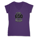 YOUR EGO NOT AMIGO - LADIES V-NECK T-SHIRT WOMEN'S V-NECK Purple / XS DEARSOUL