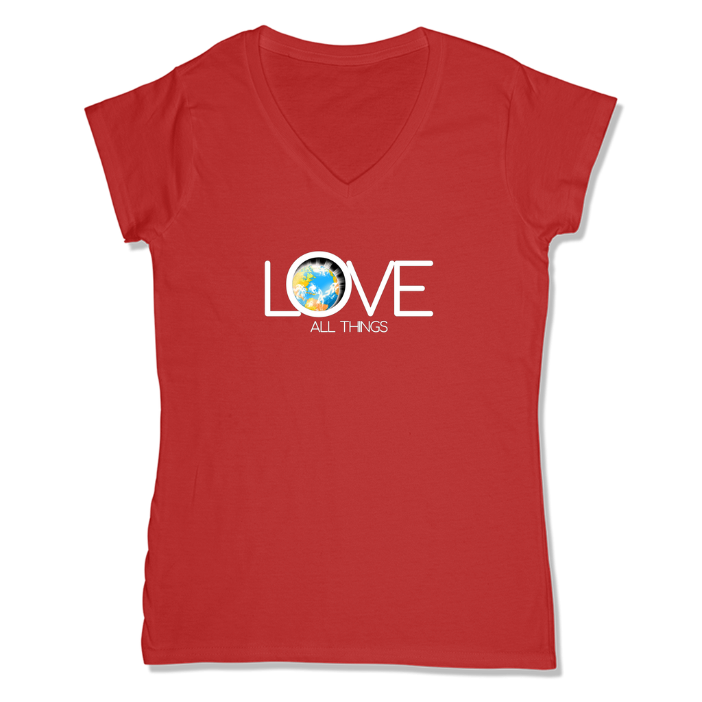 LOVE ALL THINGS - LADIES V-NECK T-SHIRT WOMEN'S V-NECK RED / XS DEARSOUL