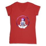 MANIFEST - LADIES V-NECK T-SHIRT WOMEN'S V-NECK RED / XS DEARSOUL