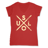 SOUL -  LADIES V-NECK T-SHIRT WOMEN'S V-NECK RED / XS DEARSOUL