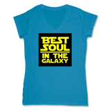 BEST SOUL IN GALAXY - LADIES V-NECK T-SHIRT WOMEN'S V-NECK Sapphire / XS DEARSOUL