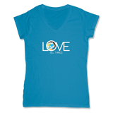 LOVE ALL THINGS - LADIES V-NECK T-SHIRT WOMEN'S V-NECK Sapphire / XS DEARSOUL