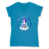 MANIFEST - LADIES V-NECK T-SHIRT WOMEN'S V-NECK Sapphire / XS DEARSOUL