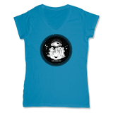 ROLLS 3RD EYE  - LADIES V-NECK T-SHIRT WOMEN'S V-NECK Sapphire / XS DEARSOUL