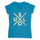 SOUL -  LADIES V-NECK T-SHIRT WOMEN'S V-NECK Sapphire / XS DEARSOUL
