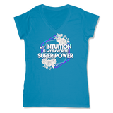 SUPER POWER - LADIES V-NECK T-SHIRT WOMEN'S V-NECK Sapphire / XS DEARSOUL