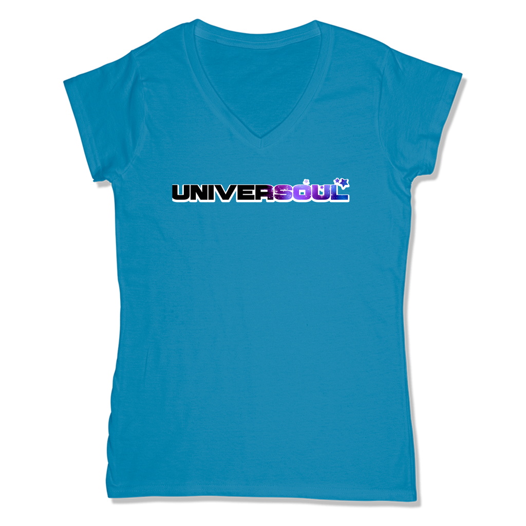 UNIVERSOUL - LADIES V-NECK T-SHIRT WOMEN'S V-NECK Sapphire / XS DEARSOUL