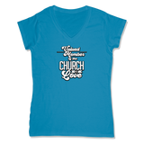 VALUED MEMBER CURCH OF SOUL - LADIES V-NECK T-SHIRT WOMEN'S V-NECK Sapphire / XS DEARSOUL