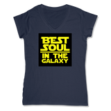 BEST SOUL IN GALAXY - LADIES V-NECK T-SHIRT WOMEN'S V-NECK True Navy / XS DEARSOUL