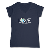 LOVE ALL THINGS - LADIES V-NECK T-SHIRT WOMEN'S V-NECK True Navy / XS DEARSOUL