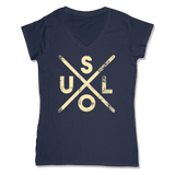 SOUL -  LADIES V-NECK T-SHIRT WOMEN'S V-NECK True Navy' / XS DEARSOUL