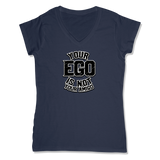 YOUR EGO NOT AMIGO - LADIES V-NECK T-SHIRT WOMEN'S V-NECK True Navy / XS DEARSOUL
