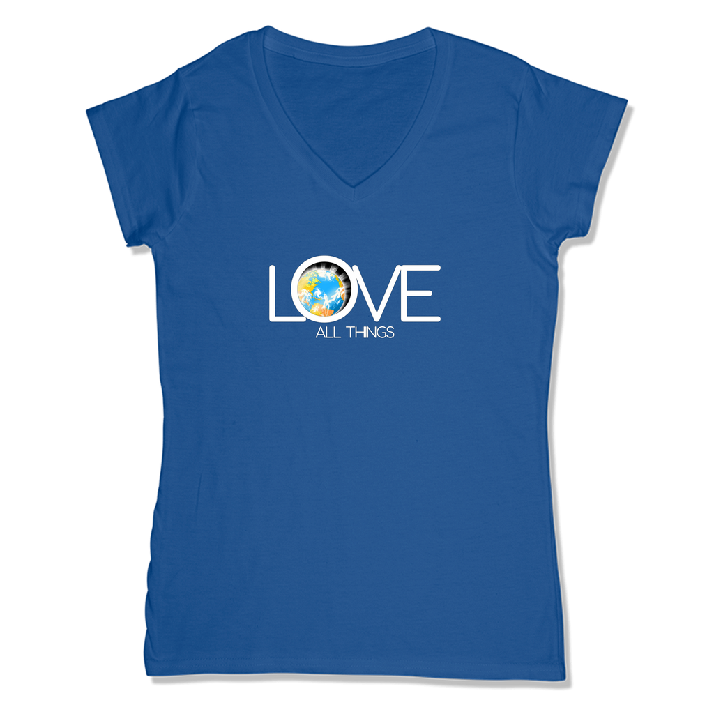 LOVE ALL THINGS - LADIES V-NECK T-SHIRT WOMEN'S V-NECK True Royal / XS DEARSOUL