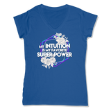 SUPER POWER - LADIES V-NECK T-SHIRT WOMEN'S V-NECK True Royal / XS DEARSOUL