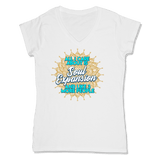 ALL I CARE ABOUT IS SOUL EXPANSION - LADIES V-NECK T-SHIRT WOMEN'S V-NECK White / XS DEARSOUL