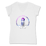 MANIFEST - LADIES V-NECK T-SHIRT WOMEN'S V-NECK White / XS DEARSOUL