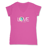 LOVE ALL THINGS - LADIES V-NECK T-SHIRT WOMEN'S V-NECK Wild Raspberry / XS DEARSOUL