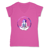 MANIFEST - LADIES V-NECK T-SHIRT WOMEN'S V-NECK Wild Raspberry / XS DEARSOUL