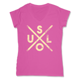 SOUL -  LADIES V-NECK T-SHIRT WOMEN'S V-NECK Wild Raspberry / XS DEARSOUL