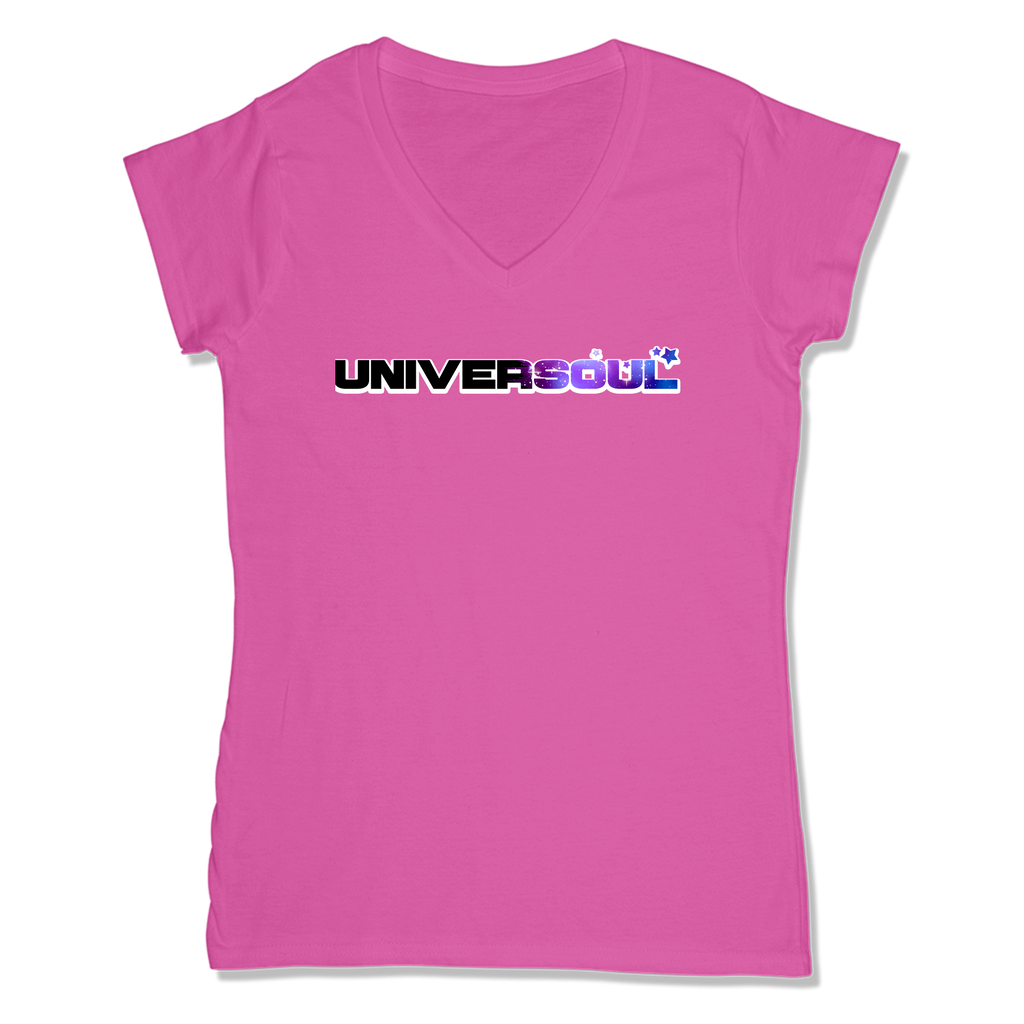 UNIVERSOUL - LADIES V-NECK T-SHIRT WOMEN'S V-NECK Wild Raspberry / XS DEARSOUL