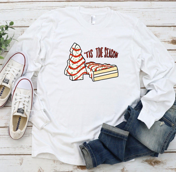 Little Debbie Christmas Tree Cake Long Sleeve Tee ~ Christmas Shirt ~ Little Debbie Christmas Shirt