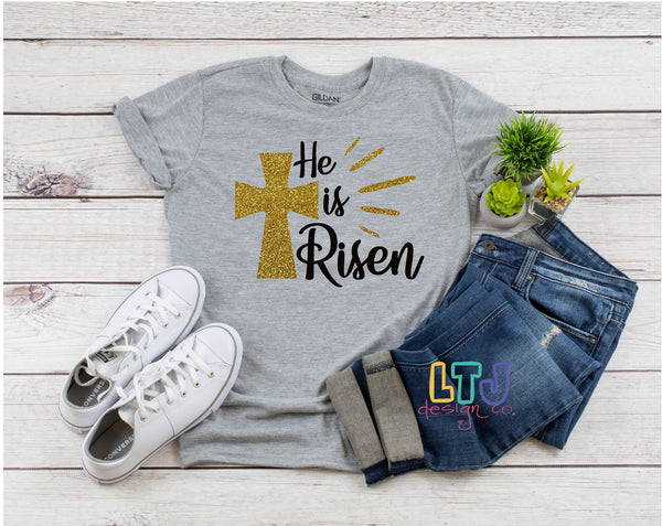He is Risen Short Sleeve Tee ~ Easter Shirt