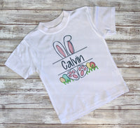 Personalized Easter Short Sleeve Tee for Toddlers ~ Easter Bunny Shirt