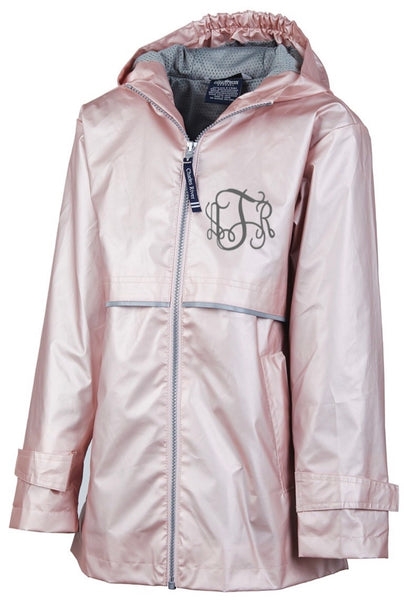 Youth Monogrammed Rain Jacket ~ Rose Gold Rain Jacket