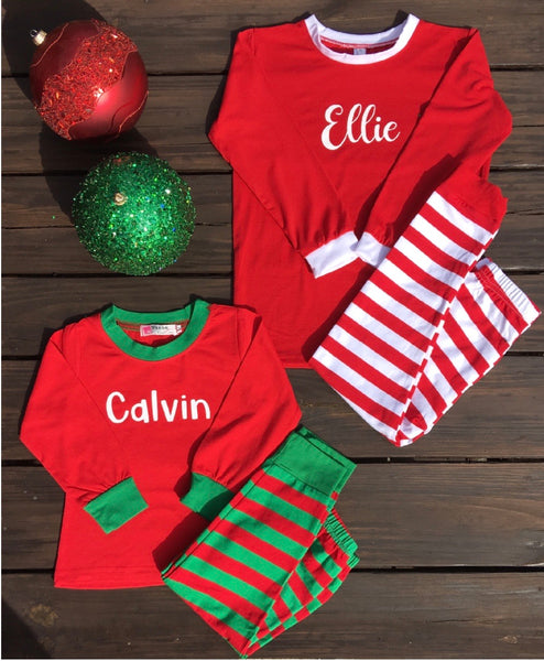 Christmas Pajamas ~ Personalized Christmas Pajamas ~ Kids Christmas Pajamas ~ Toddler Christmas Pajamas