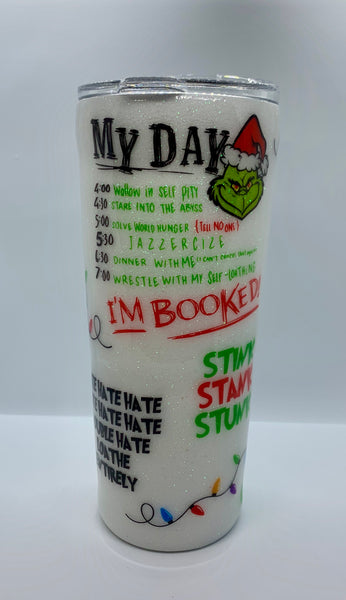 Grinch Tumbler ~ Christmas Tumbler ~ Grinch Cup